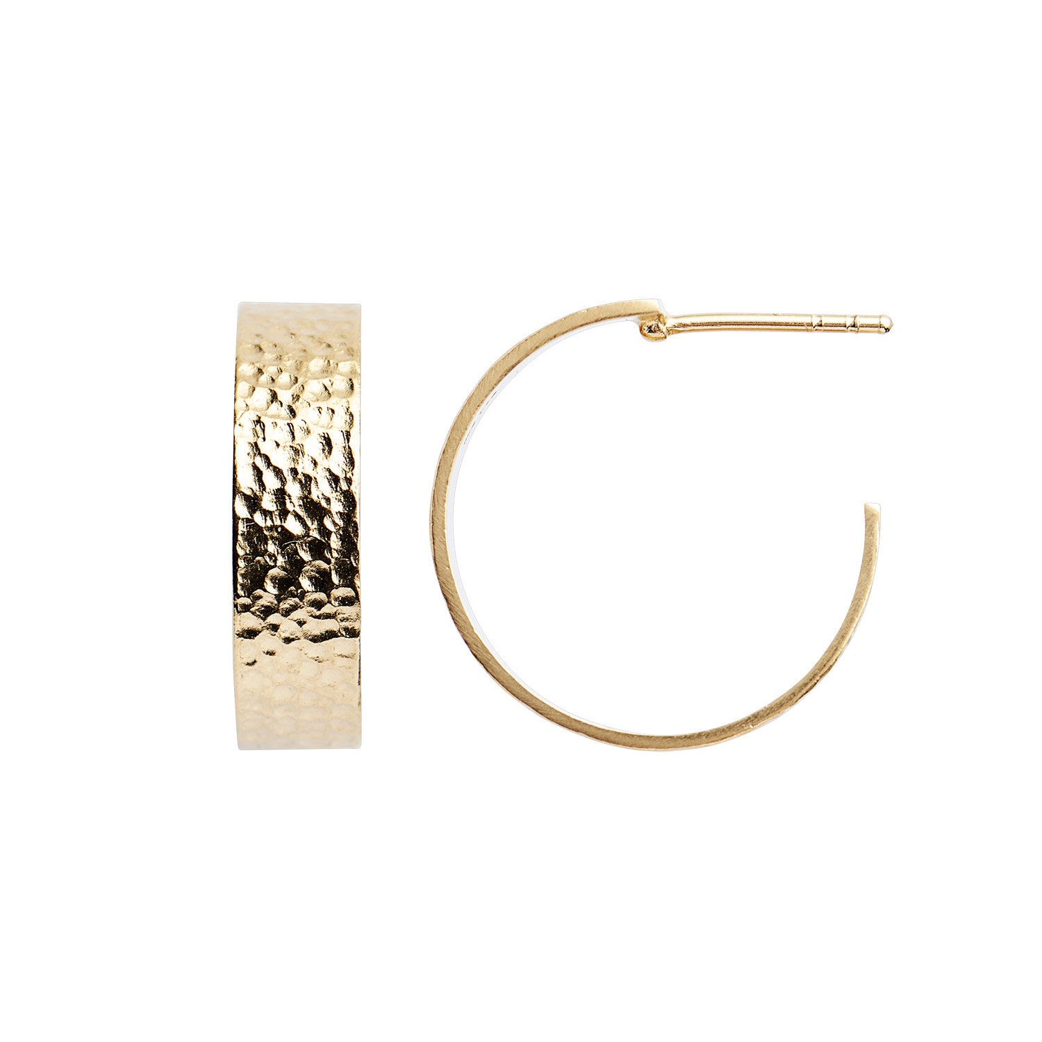 Big La Mer Creol Earring Gold