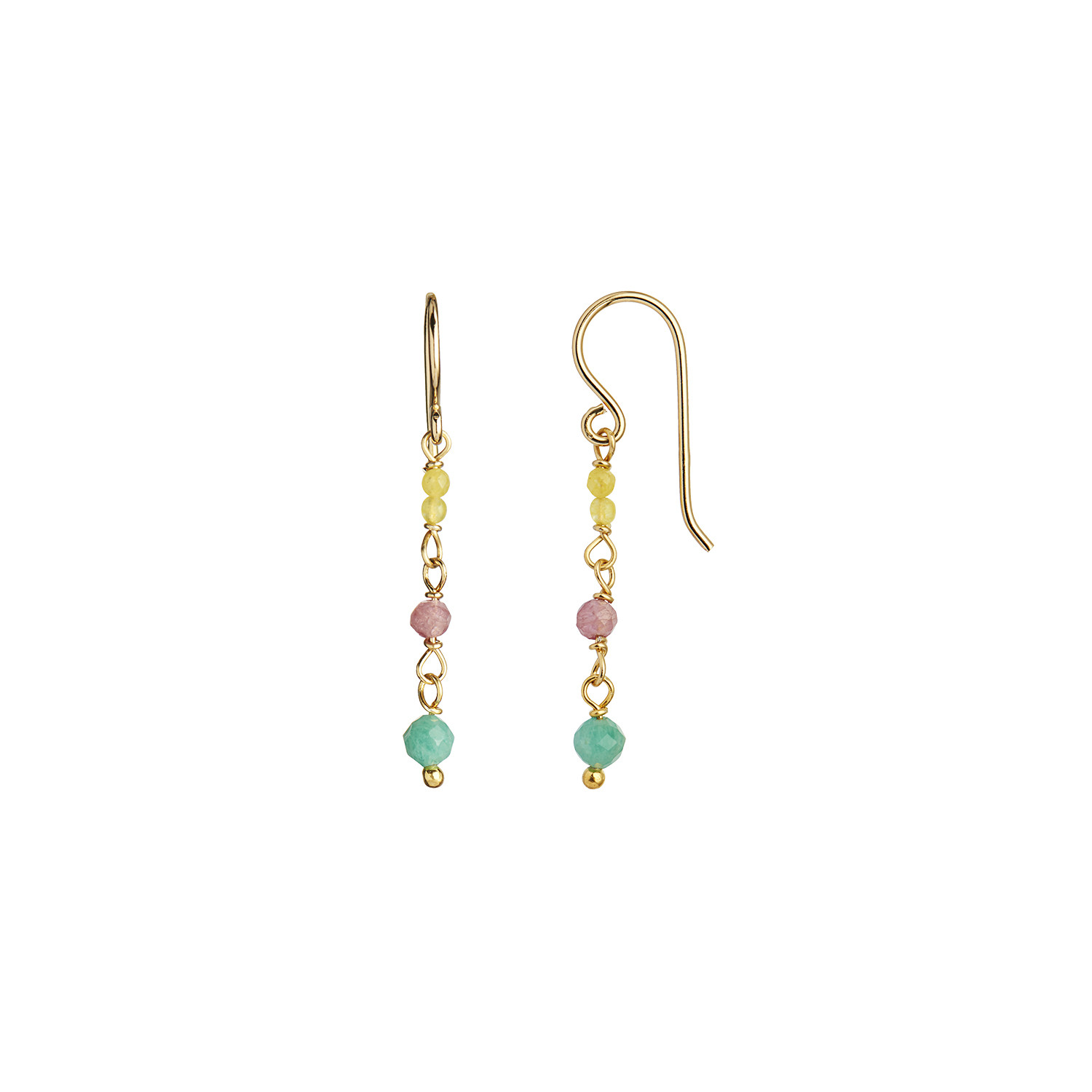Petit Stone Earring on Hook - Light Candy Mix