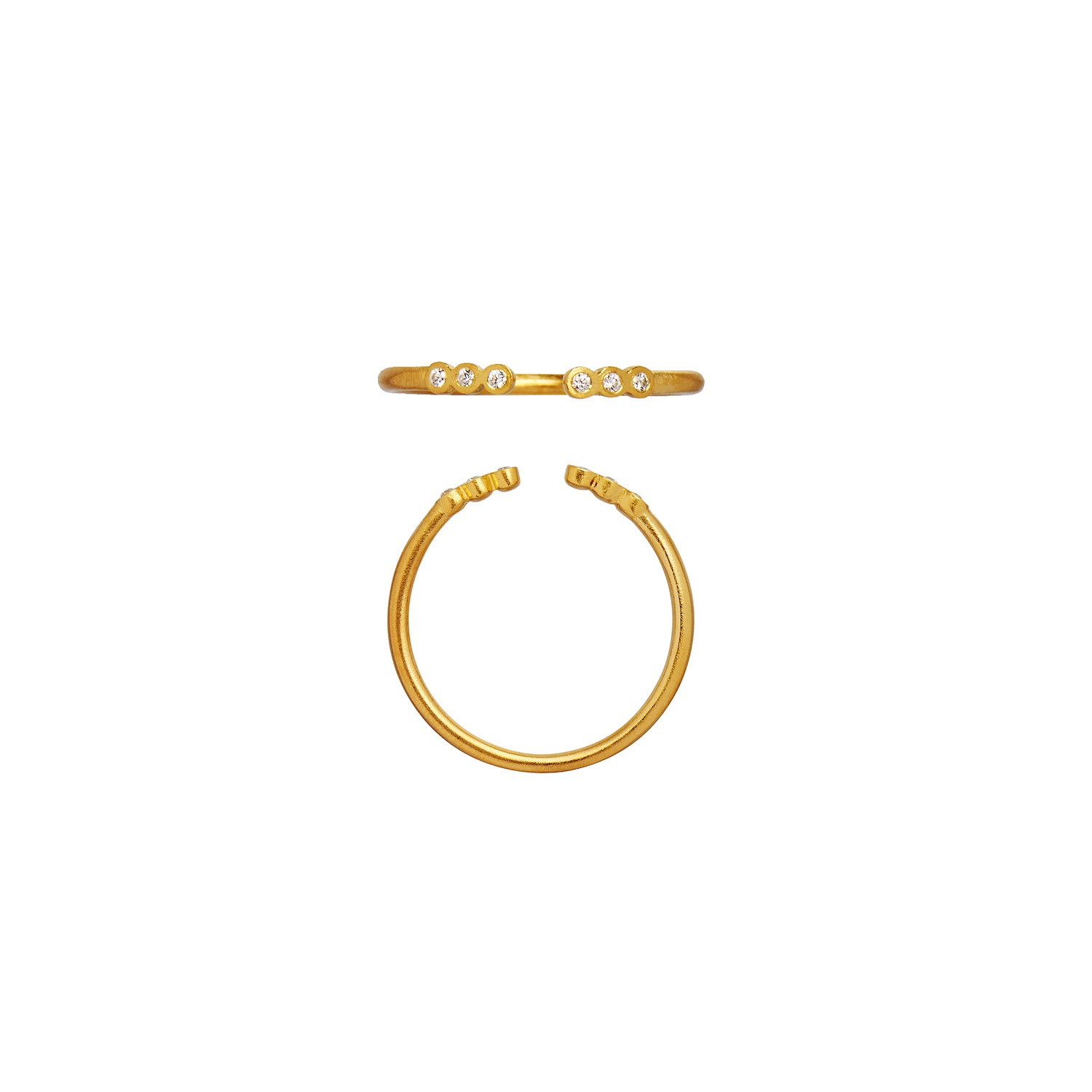 Open Six Dots Ring Gold