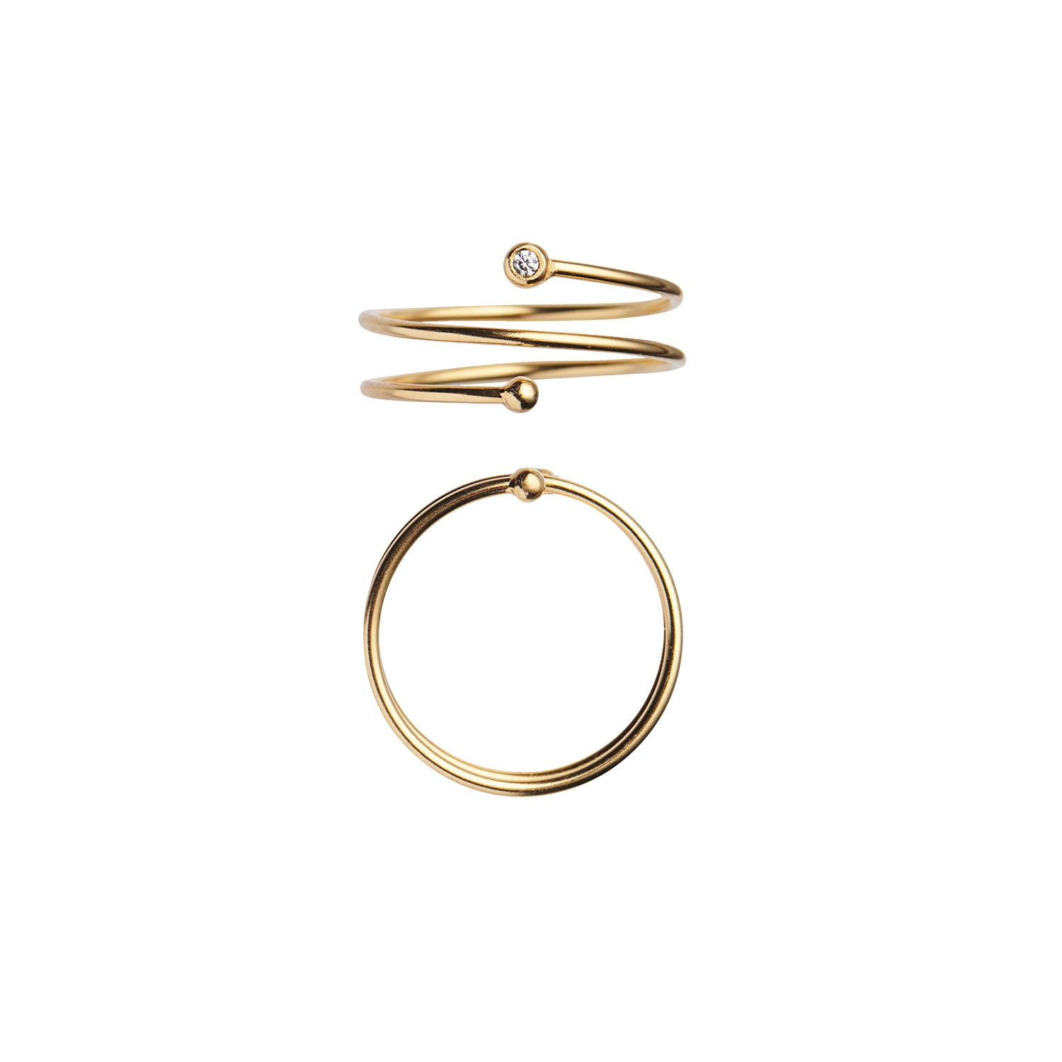 One Dot Curl Ring Gold