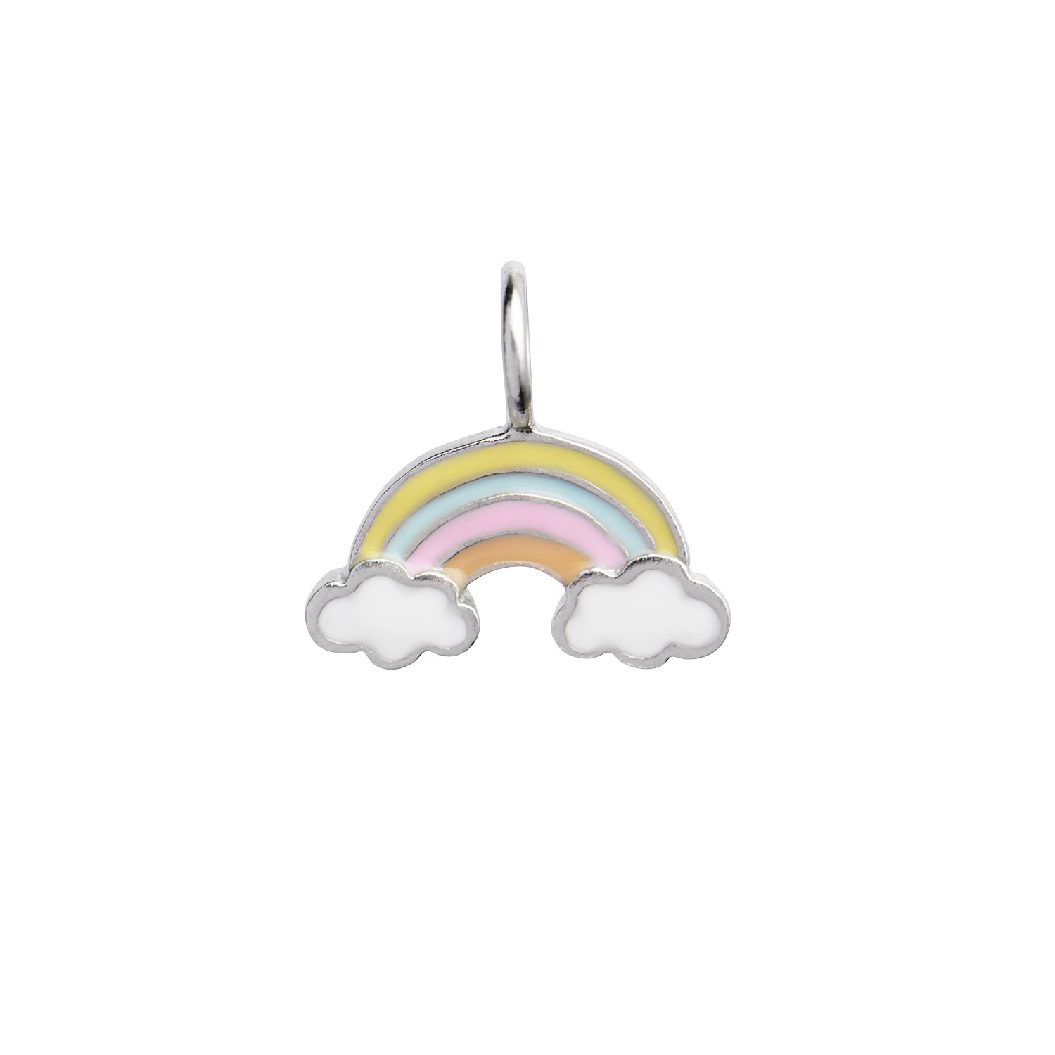 Love Rainbow with Enamel Pendant Silver