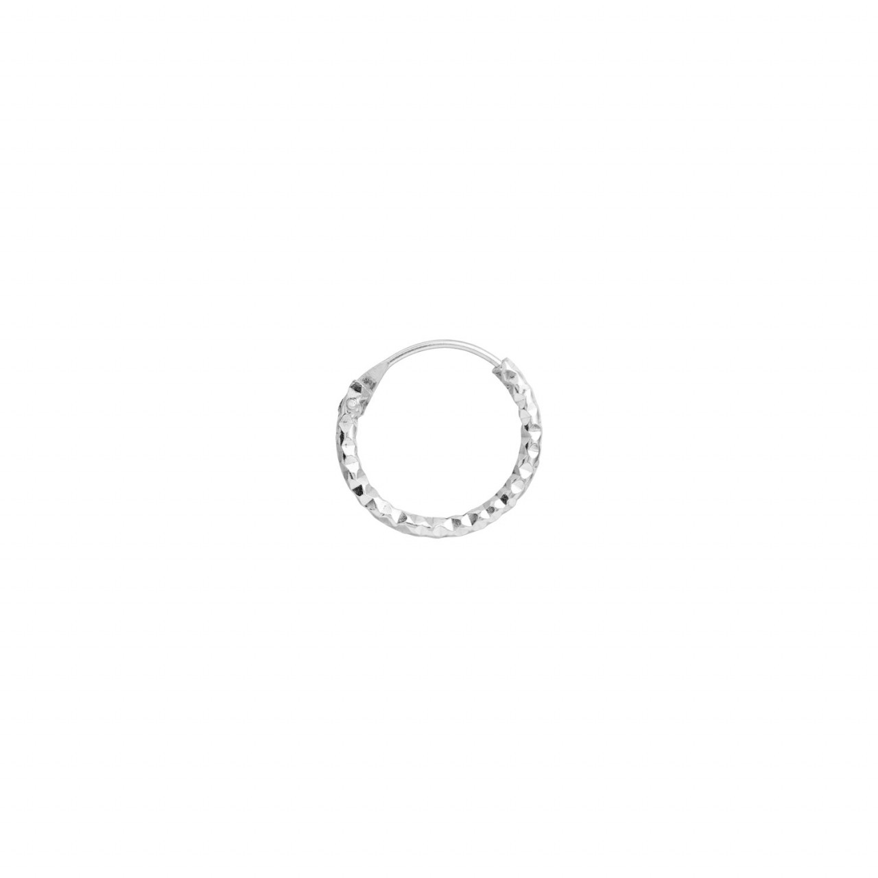 Petit Tinsel Creol Earring Piece Silver