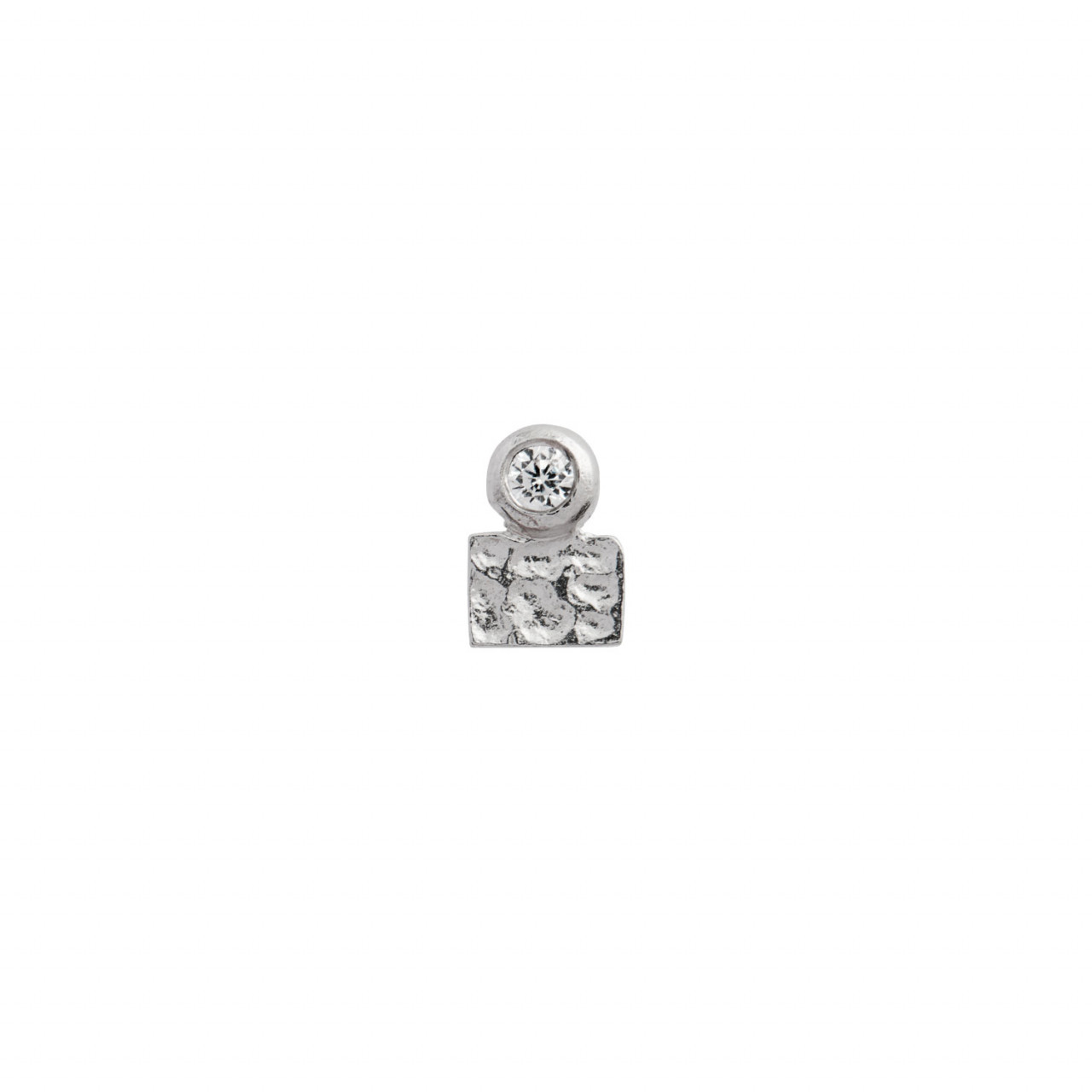 Tres Petit La Mer Earring With Stone Silver