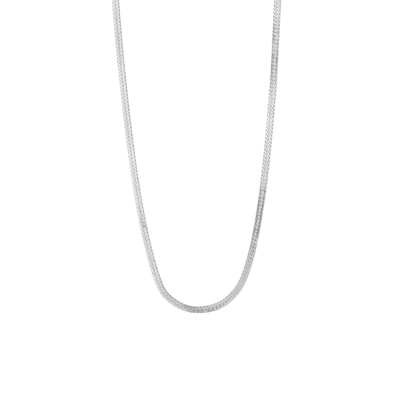 Short Snake Necklace Silver