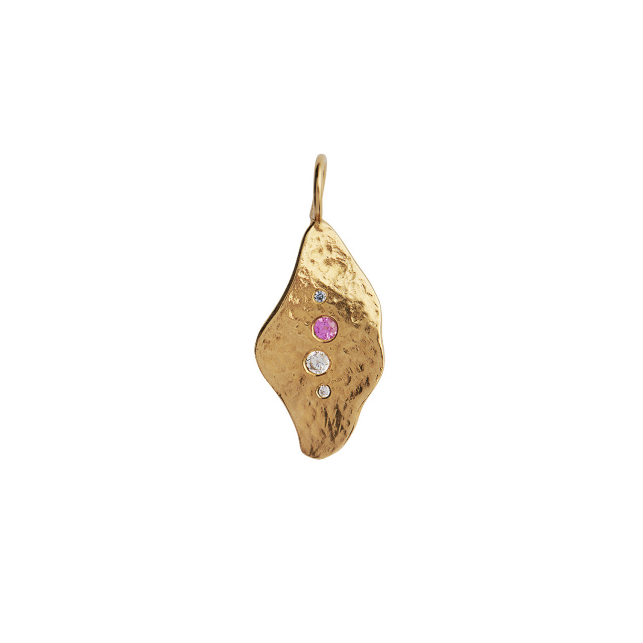 Ile De L'Amour Pendant with Stones Gold