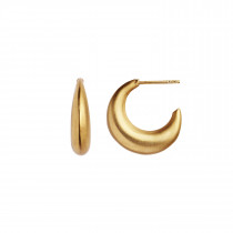 Big Croissant Creol Earring - Gold