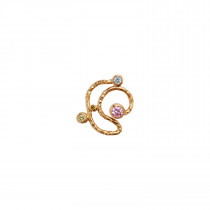 Twirly Candy Dots Earring Gold
