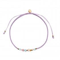 Candy Bracelet – Soft Sorbet Mix and Dusty Rose Ribbon