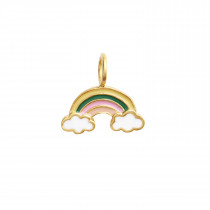 Love Rainbow with Enamel Pendant Gold