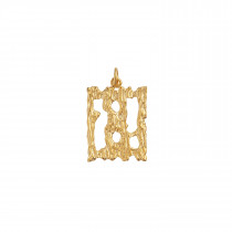 Squared Rock Pendant Gold