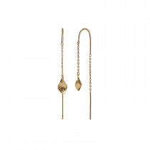 Petit Ile De L'Amour Double Chain Earring Gold