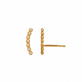 Seven Dots Earring Piece Right Gold