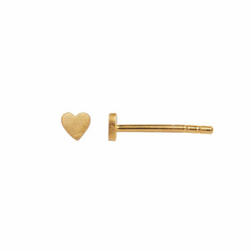 Petit Love Heart Earring Piece Gold