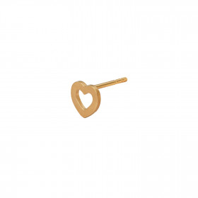 Petit Open Love Heart Earring Gold