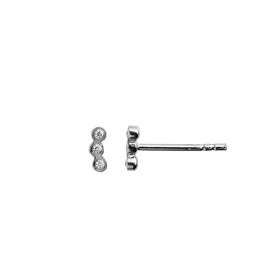 Three Dots Earring Piece Silver
