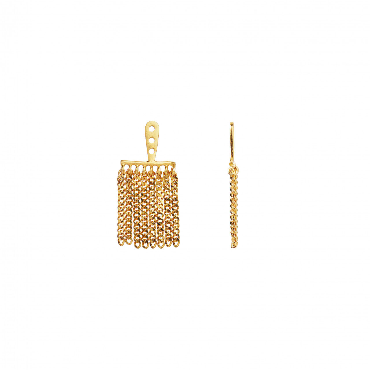 Dancing Chains Behind Ear-Earring Gold
