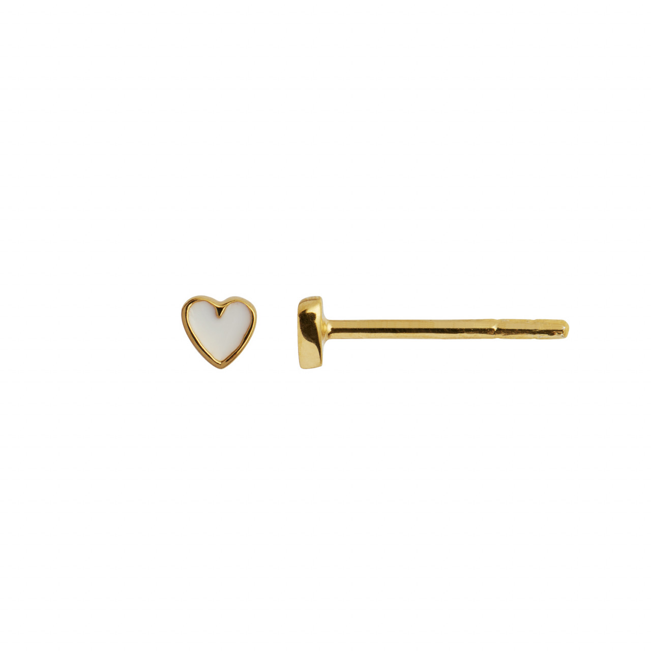 Petit Love Heart White Enamel Gold