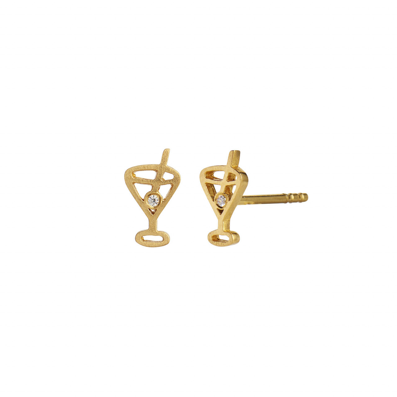 Tres Petit Cocktail Earring Gold