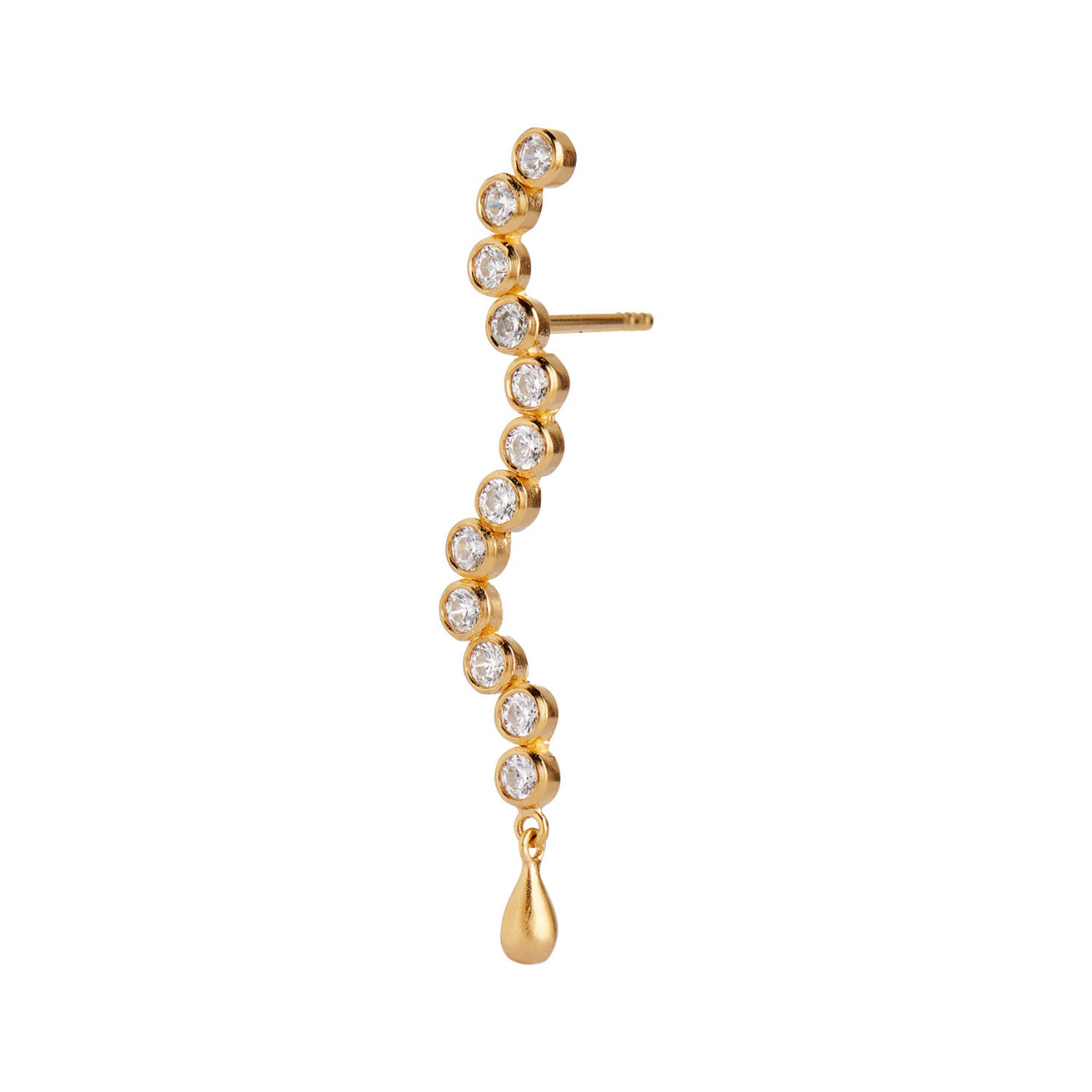 Midnight Sparkle Long Earring Gold - Right
