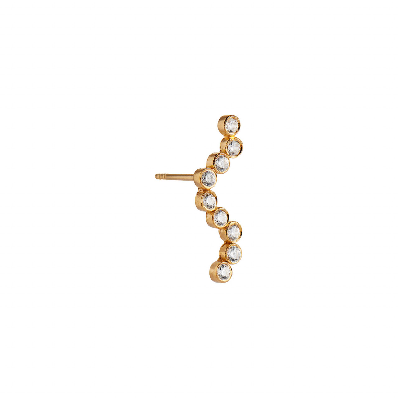 Midnight Sparkle Earring Gold - Left