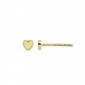 Petit Love Heart Yellow Enamel Gold